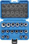 Bgs Technic Dopsleutelset twaalfkant 12,5 mm (1/2) 8 - 24 mm 16-delig