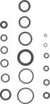 Assortiment O ringen, 225 delig, 3-22 mm ƒ˜