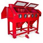 Zandstraalcabine 880 liter dubbele werkpost