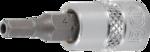 Bgs Technic Dopsleutelbitset 6,3 mm (1/4) binnenzeskant met boring 2 - 7 mm 8-dlg