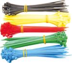 Bgs Technic Kabelbinder,assortiment, 5 kleuren, 200 st