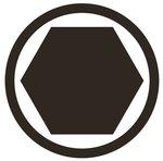 Bgs Technic 1/4 bit dop, interne hexagon 3/32