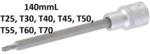 Bgs Technic 1/2 Bit dop, Torx (voor Torx), T25x140 mm