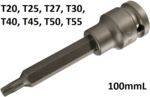 Bgs Technic 1/2 Impact kracht bit dop 100 mm lang t20