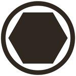 Bgs Technic Krachtdop bit, Interne Hexagon, M5, 1/2