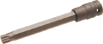 Bgs Technic 1/2 Impact kracht bit dop, spline xzn, m12x10x140 mm