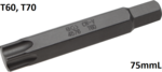 Bgs Technic Bit lengte 75 mm 14 mm buitenzeskant T-profiel (voor Torx) T60