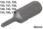 Bgs Technic T10 bit, met gat, 30 mm korte, 5/16 drive