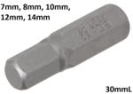 Bgs Technic Int. Hex. Bit 7 mm, 30 mm lang, 5/16 drive