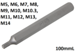 Bit lengte 100mmL (3/8) buitenzeskant wigprofiel (voor RIBE)