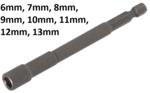 Bgs Technic Dop, extra lang, met 6-pt. Boor Shaft, 6 mm