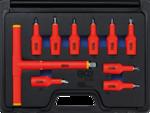 Bgs Technic VDE-dopsleutelbitset aandrijving binnenvierkant (1/2) T-profiel T20 - T55 10-dlg