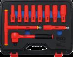 Bgs Technic VDE-dopsleutelset aandrijving 12,5 mm (1/2) SW 10 - 24 mm 11-dlg