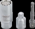Bgs Technic Multi-dopsleutel et adapter-set (3/8) 9 - 21mm 3-dlg