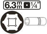 Bgs Technic Diepe dop pro torque  1/4 , 4 mm