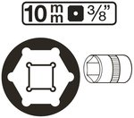 Bgs Technic 3/8 dop Pro Torque 10 mm