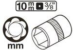 Bgs Technic 3/8 Speciale Aansluiting 10 mm