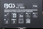Bgs Technic Gloeibougie reparatie set M10 x 1.0
