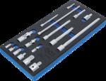 Bgs Technic Verlengings, adapter- en scharnierset 17-dlg