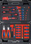 VDE-steeksleutel-gereedschapskoffer 26-dlg