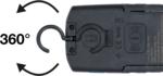 COB-LED looplamp met magneet en ophanghaak uitklapbaar met laadfunctie via inductie