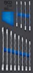 Gereedschapmodule 1/3: ratelring-steeksleutelset 8 - 19mm 12-dlg