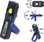 COB-LED looplamp met magneet en ophanghaak uitklapbaar