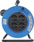 Kabelhaspel 15 m 3x1,5 mm² 4 stopcontacten IP 20 3000 W