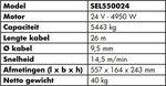 Lier 24V, 5443kg 4.95kw 26m IP68