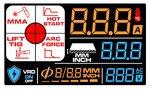 Electrode inverter lcd 220a 230v + accessoires