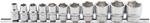Bgs Technic 11-delig doppenset, 3/8, 6-pt., INCH SAE, 5/16 - 7/8
