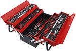 Metalen gereedschapskoffer inclusief gereedschappenassortiment 86-dlg