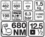 Bgs Technic Slagmoersleutel 1/2 BGS, 610 Nm
