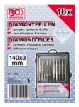 Bgs Technic Diamantvijlset recht 140 x 3 mm 10-delig