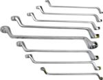 Bgs Technic Set dubbele ringspanners offset 6x7 - 20x22 mm 8 delig