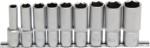 Bgs Technic Dopsleutelset zeskant, diep 12,5 mm (1/2) 10 - 24 mm 9-delig