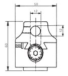 Universele kotterkop zonder automatische voeding KKC4, 100mm