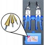 Bgs Technic 1/3 Gereedschap module 5-delig stappenboor / metaal ruimer