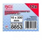 Bgs Technic Schuurband 10 mm x 330 mm 12 stuks voor BGS 8853