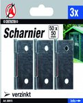 3-delige Scharnier Set, 50 x 50 mm