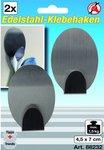 2-delige RVS Adhesive Hooks 4,5 x 7 cm laadvermogen max. 1,5 kg