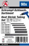 90-delige Shrink Tubing assortiment, zwart
