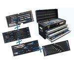 Bgs Technic Metalen gereedschapskist 3 laden met 143 gereedschappen