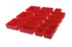 Bgs Technic Plastic Strorage Trays voor werkplaatskar 17 delig