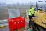 Tank diesel rood pe 440 liter, pomp 12v