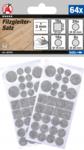 Viltglijderset grijs gemeleerd 64-delig