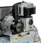 Riemaangedreven olie compressor verzinkte ketel 10 bar - 100 liter -99kg