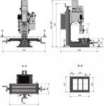 Boorfreesmachine 280x175x210 mm - de vervanger van de BF20