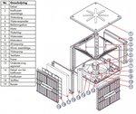 Industriele vaste koelventilator 18000m³/h