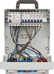 Wandverdeler 4/32 IP44 4x LS 230V/16 A, 1xLS 400V/16 A, 1xFI 40 A 4-polig 30mA